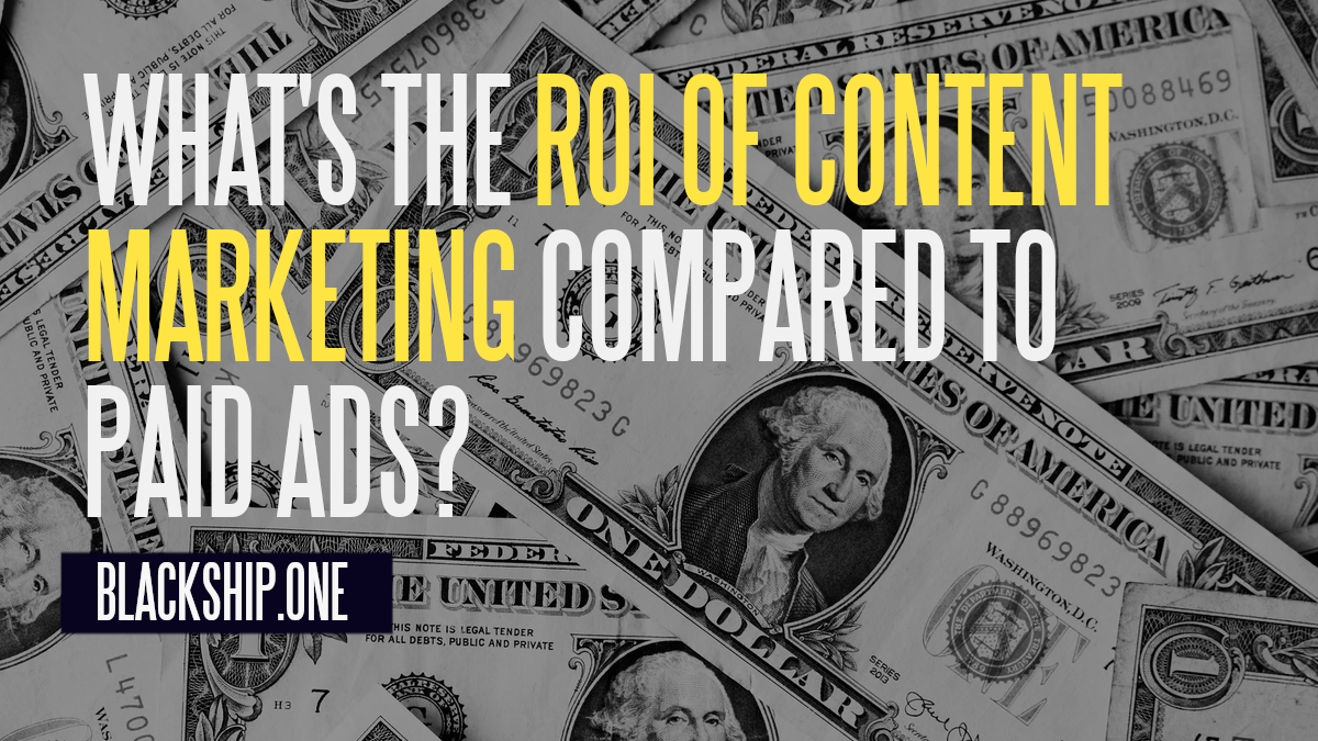 content marketing roi vs paid ads